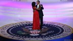 Barack Obama dances with Michelle Obama