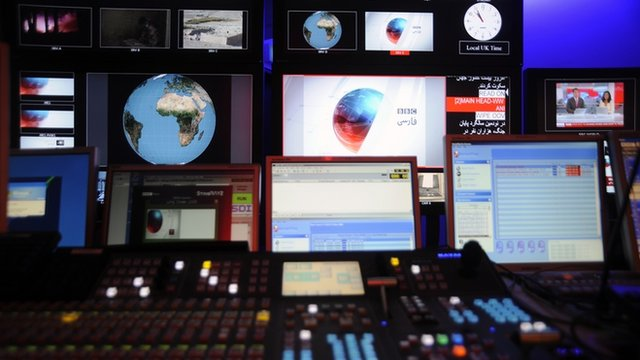 Behind the scenes at the BBC Persian television channel