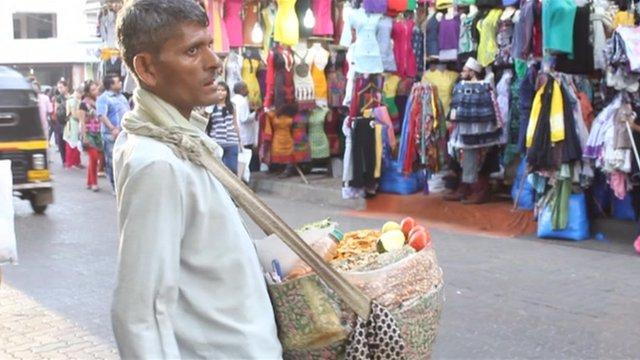 Indian street trader
