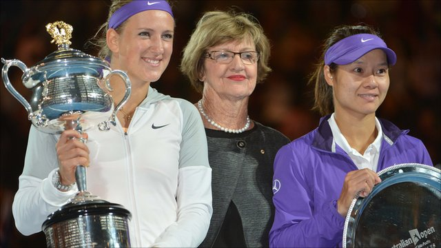 Victoria Azarenka, Margaret Court and Li Na
