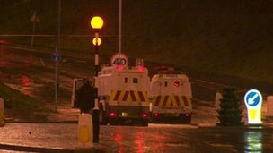 Police were attacked in Newtownabbey