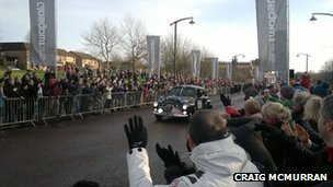 Start of the 2013 Monte Carlo rally