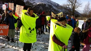 Hundreds march through Ennerdale in the Lake District