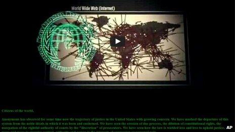 Screenshot of USSC website