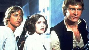 Mark Hammill, Carrie Fisher and Harrison Ford