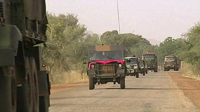Army trucks