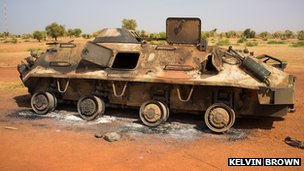 Burned out tank