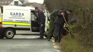 More than 100 gardai are involved in the investigation