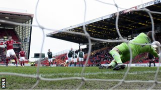 Ben Williams saves a Niall McGinn penalty