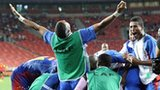 Cape Verde celebrate their historic win