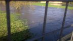 A swollen River Derwent in Borrowash
