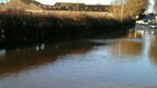 Floodwater on the A151, Edenham