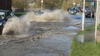 Blaby floodwater