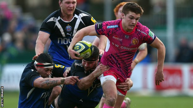 Henry Slade kicked Exeter's points at Bath