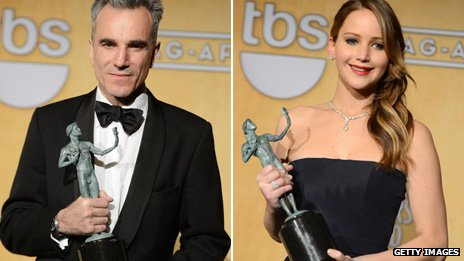 Daniel Day-Lewis and Jennifer Lawrence