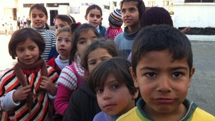 Children of displaced families in Homs