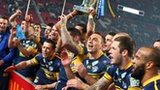 Leeds Rhinos celebrate the 2012 Super League title win