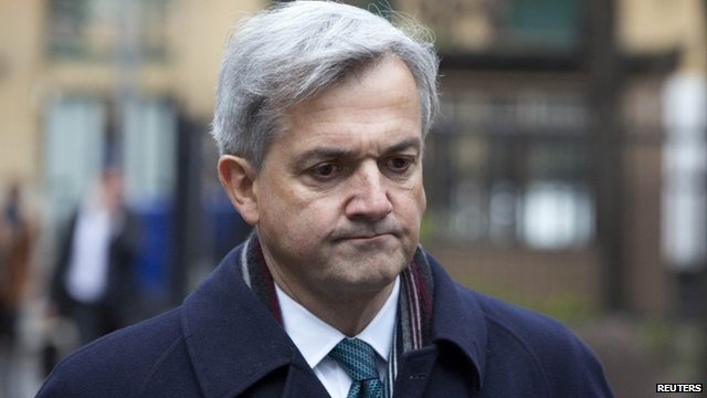 Former energy secretary Chris Huhne arrives at Southwark Crown Court
