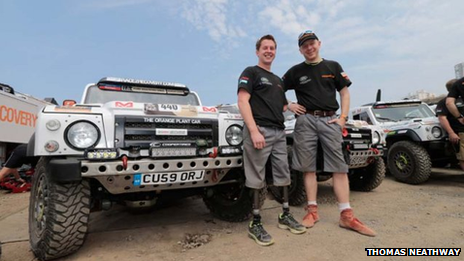 Cpl Thomas Neathway on the Dakar Rally 2013