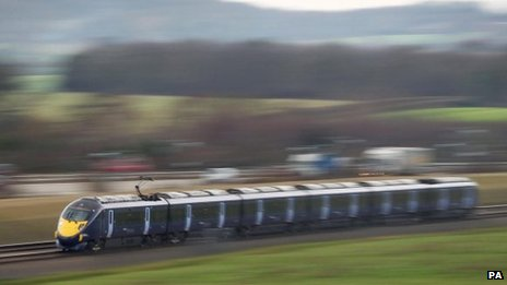 Javelin train on the HS1 Channel Tunnel rail link