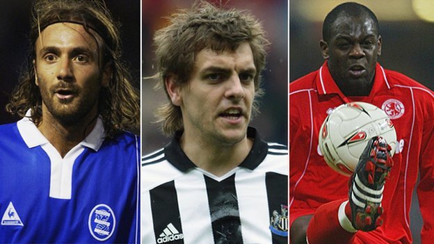 Christophe Dugarry, Jonathan Woodgate and Michael Ricketts