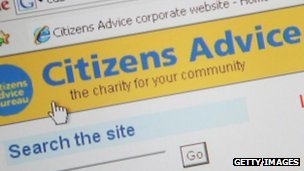Citizens advice website