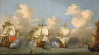 The Battle of Cape Passaro - image of painting (from National Maritime Museum, Greenwich)