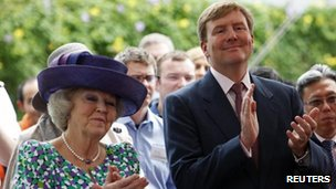 Queen Beatrix and Prince Willem-Alexander