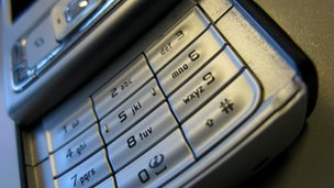 Mobile phone keypad