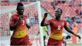 Asamaoah Gyan and Emmanuel Agyemang Badu