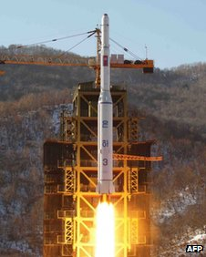North Korea&#039;s rocket blasts off on 12 December 2012