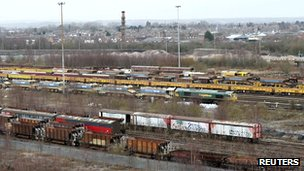 Toton sidings, site of the proposed new station