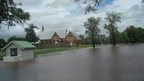 School chapel near floodwater. Photo: Daniel Shepherd