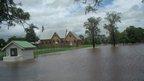 School chapel near floodwater. Photo: Daniel Shepherd