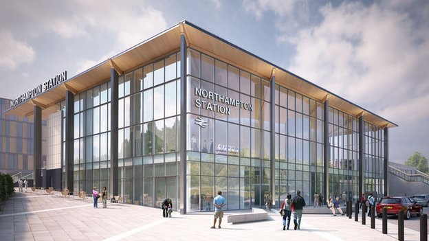 Artist's impression of Northampton Station development