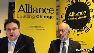 Stephen Farry and David Ford of Alliance