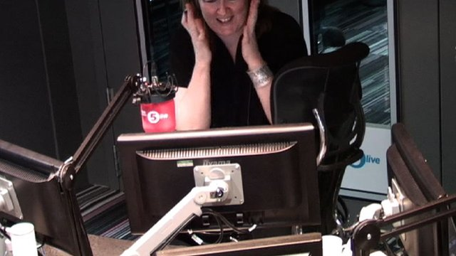 Shelagh Fogarty spots a mouse under the studio table