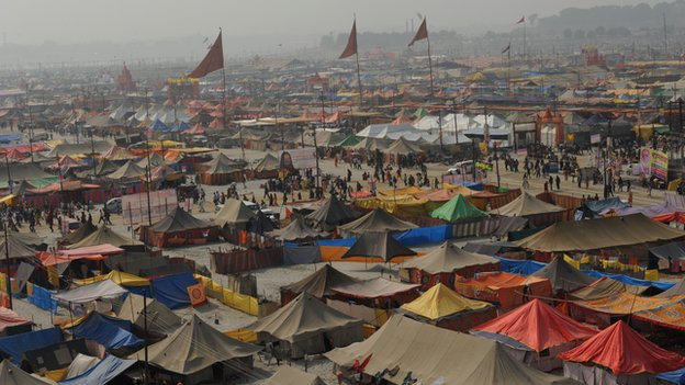 Tent city at the Kumbh Mela