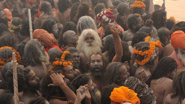 Pilgrims at the Kumbh Mela