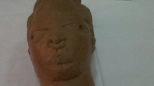 One of the Nok terracotta sculptures returned by France