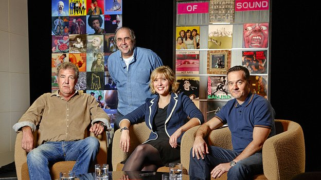 Danny Baker with Jeremy Clarkson, The Smiths' producer Stephen Street and writer Kate Mossman