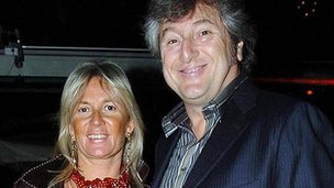 File picture of Vittorio Missoni and his wife Maurizia Castiglioni