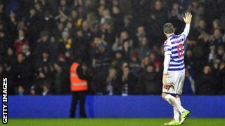 Ryan Nelsen waves goodbye at Loftus Road