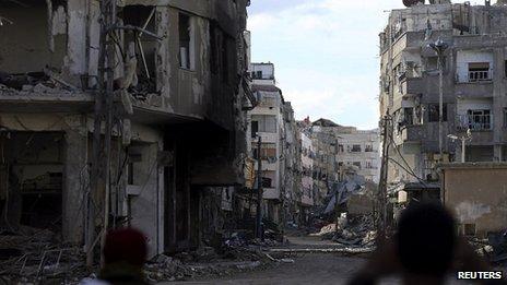 Haresta neighbourhood of Damascus. 29 Dec 2013