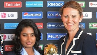 India captain Mithali Raj and England skipper Charlotte Edwards