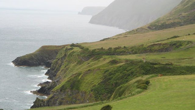 A view from the coastal path in Llangrannog, Ceredigion