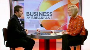 Steph McGovern interviews RIM's Stephen Bates on Breakfast