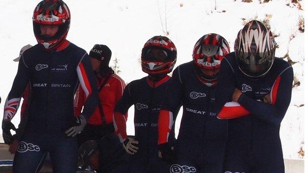 GB bobsleigh team including Golder