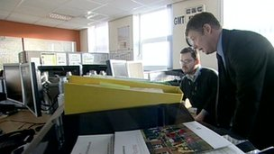 The Environment Agency's incident control room in Ipswich monitors water levels