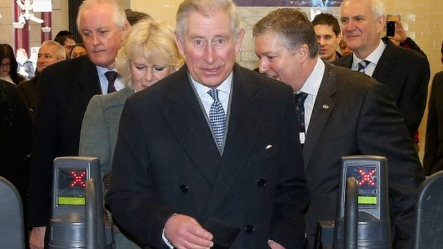 Prince Charles at London Underground barrier
